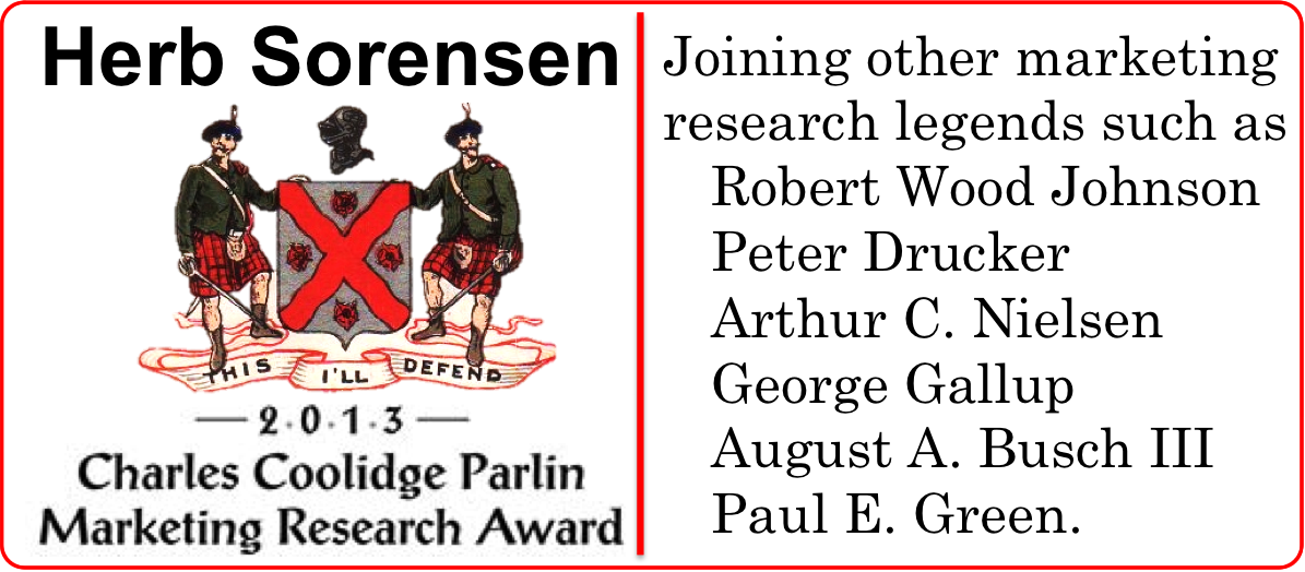 Herb Sorensen Parlin Award 2013